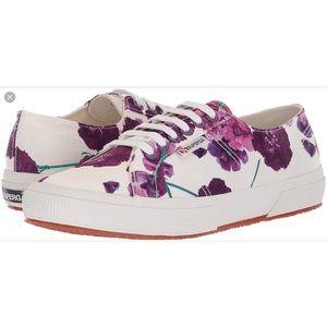 NWOB Superga Floral print low top sneakers